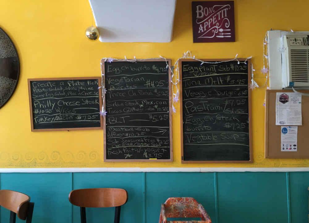 menu at Little Slice of Heaven