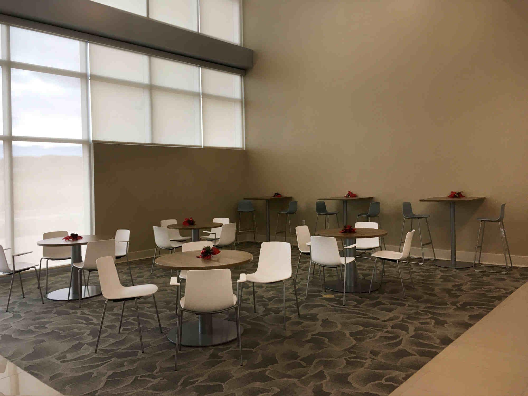 seating area at Sweet Beans Coffee Shop inside Sierra Vista Hospital