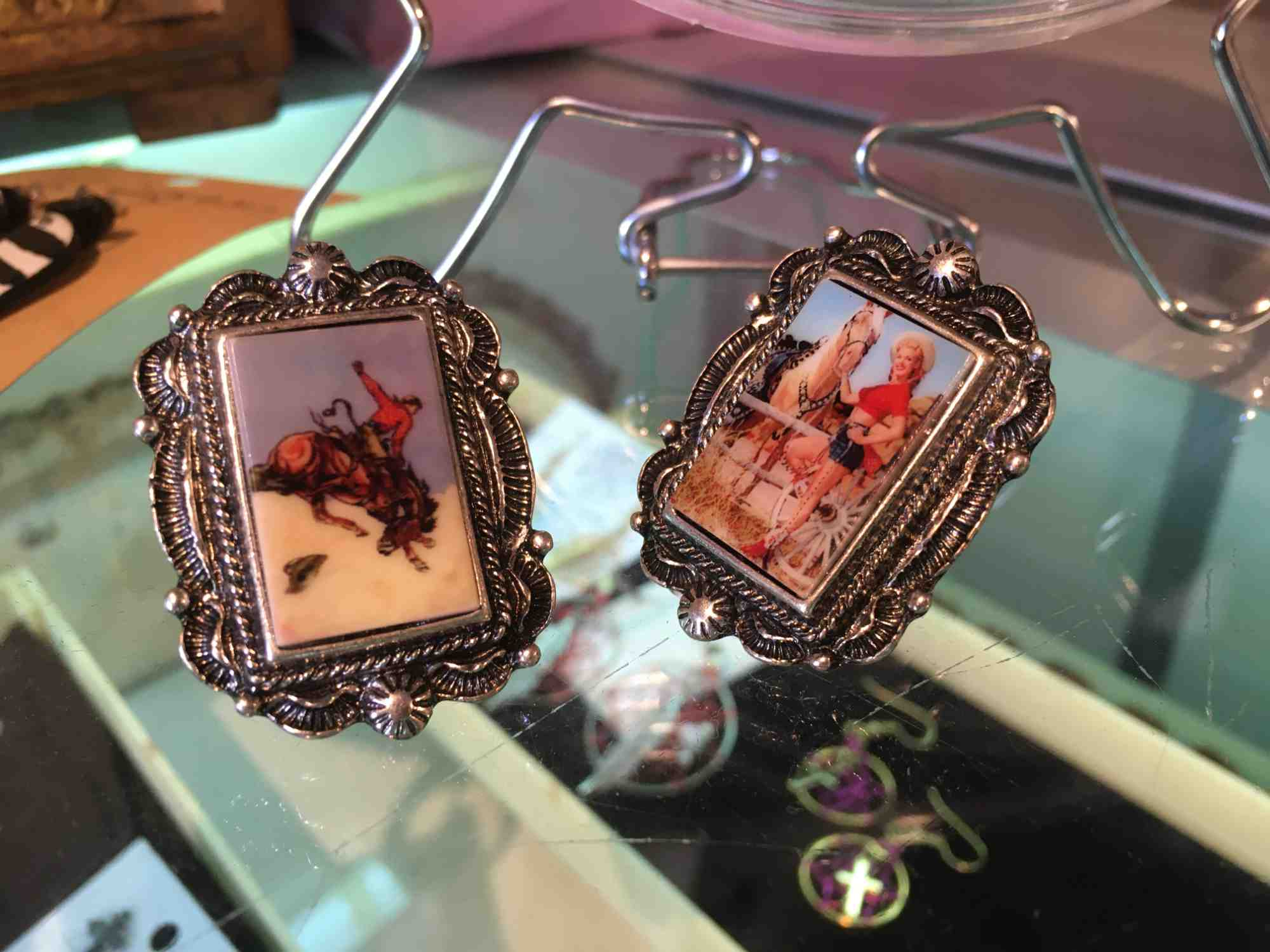western-themed costume jewelry at Rebel Roadrunner, Truth or Consequences