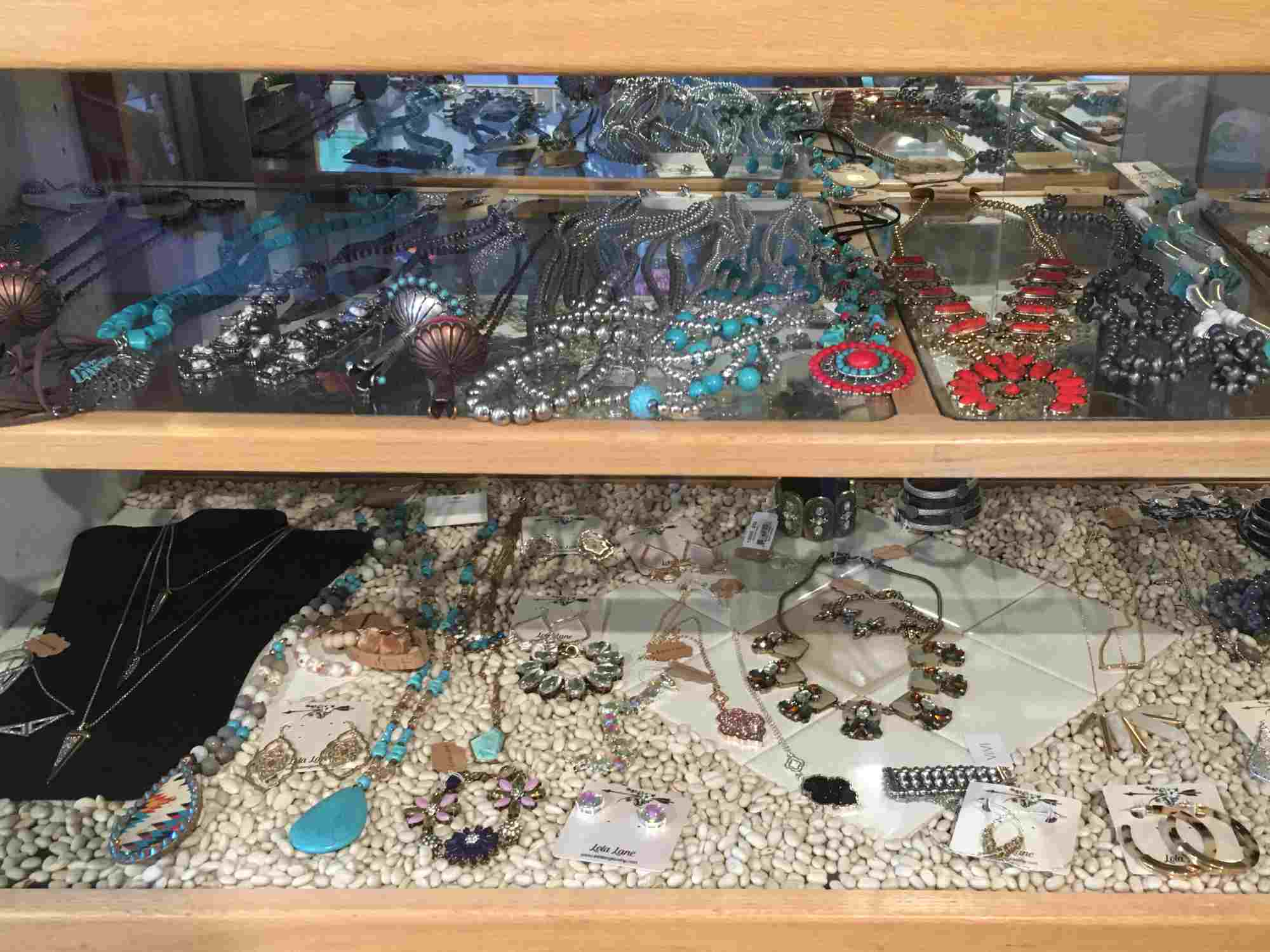 jewelry case at Rebel Roadrunner, Truth or Consequences