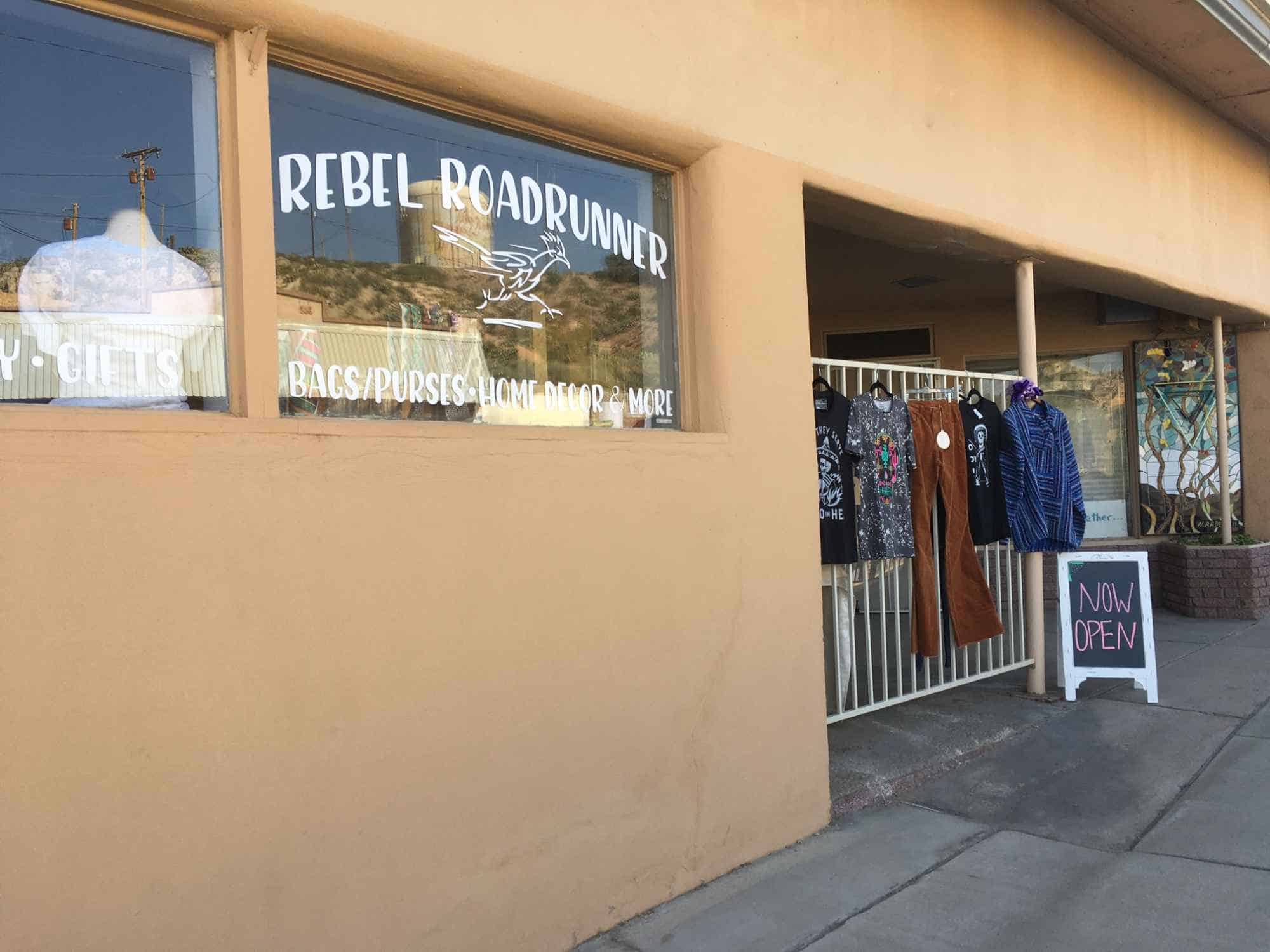 Rebel Roadrunner, clothing store in Truth or Consequences NM