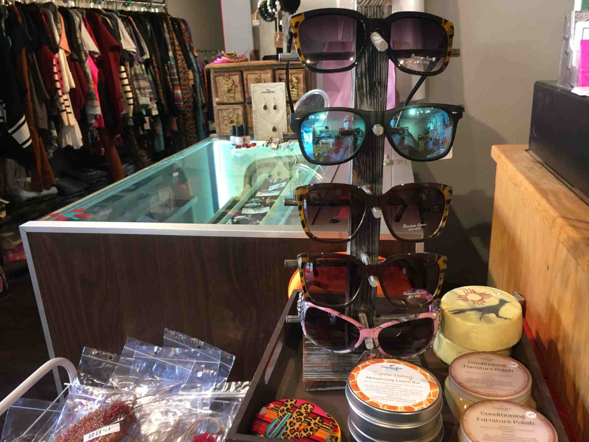 sunglasses and accessories at Rebel Roadrunner, Truth or Consequences