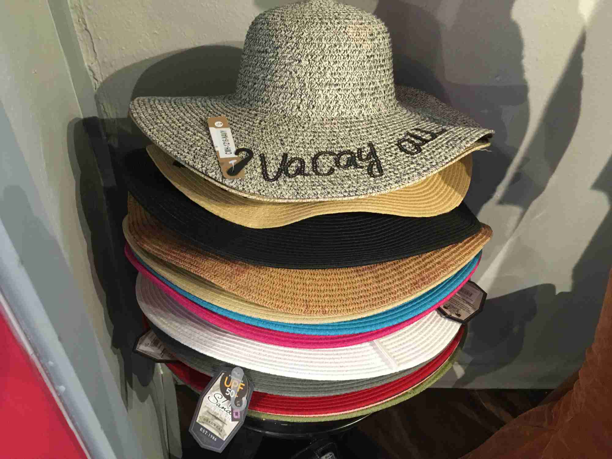 sun hats at Rebel Roadrunner, Truth or Consequences